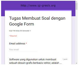 Soal dengan Google Form