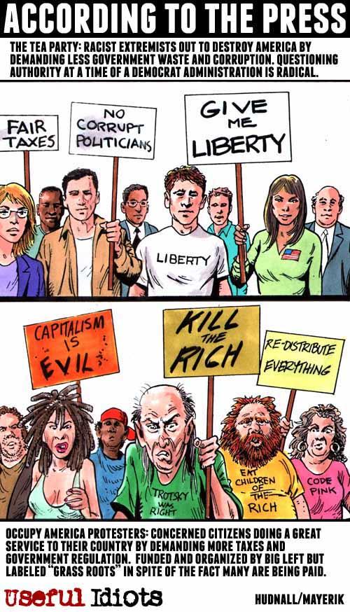 The Tea Party vs. OWS