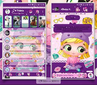 Menina Girl Theme For YOWhatsApp & KM WhatsApp By Thania