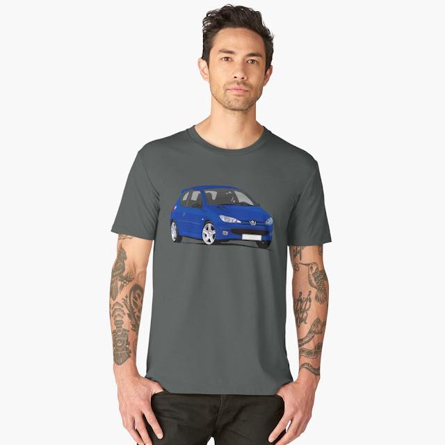 Peugeot 206 GTi t-shirt