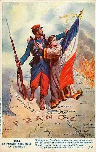 1914, la France accueille la Belgique