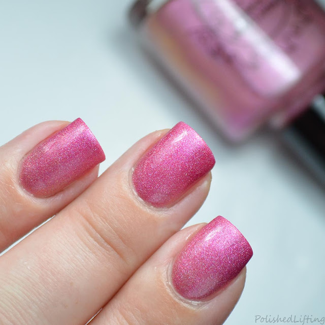 pink to peach thermal nail polish