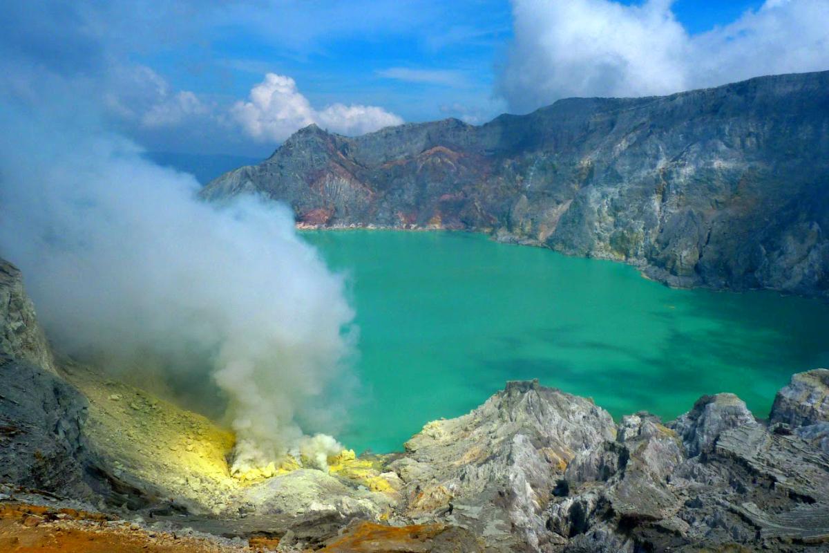 Lokasi Hunting Foto Landscape kawah gunung Ijen
