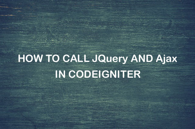 How to Call jQuery Ajax in CodeIgniter - MSK TUTORIAL