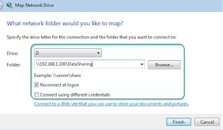 Membuat Mapping Drive pada Klient