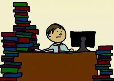 Boy studing for online exam - muquestionpaper.com