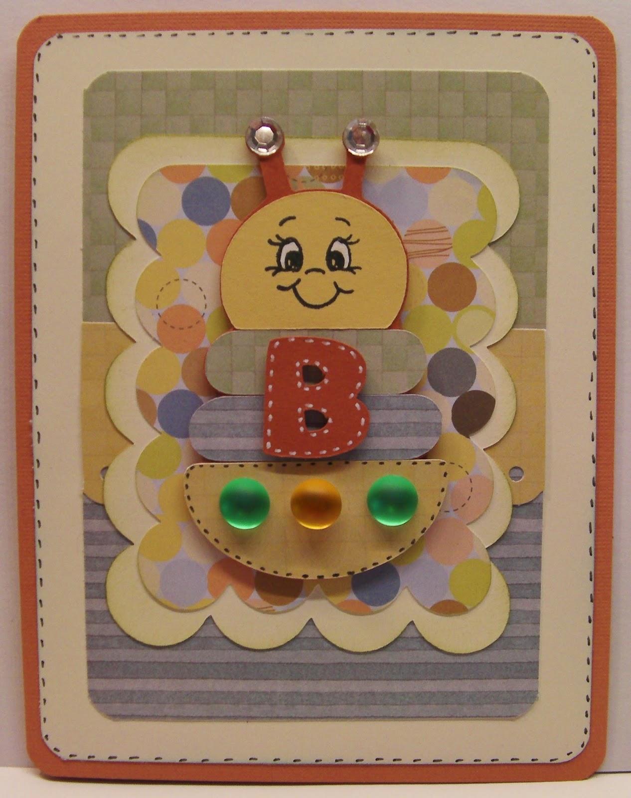 Bumblebee Creations: Cricut Baby Steps Card