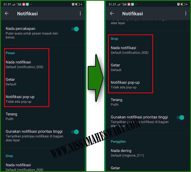 cara menghilangkan pemberitahuan whatsapp di layar utama