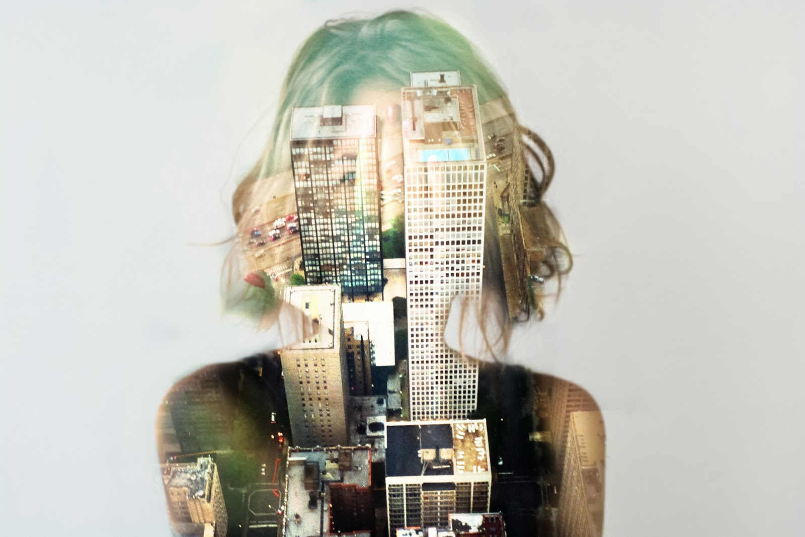 Double, multiple exposure photography. Every you is a Universe. Not only one but multiple.So don't be afraid to see them inside yourself, don't be scared to feel and live them. And be brave to let them out and show them to the World. Chicago buildings in me, big city life. Nina Sinitskaya, Grain Pixels 2014