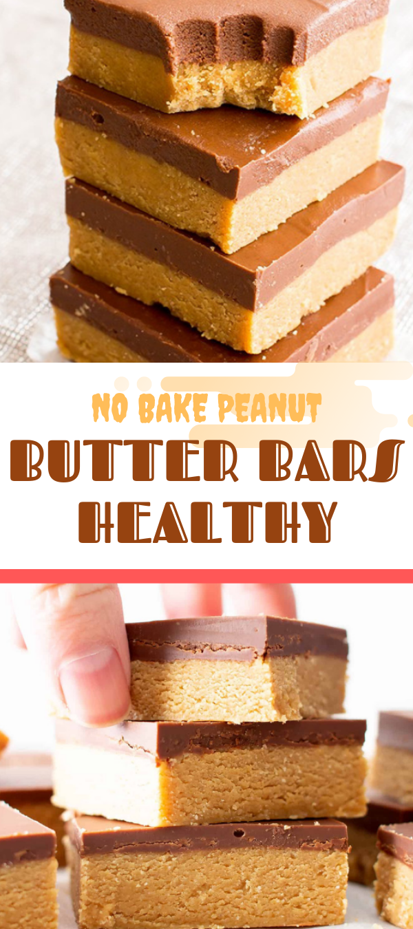 NO BAKE PEANUT BUTTER BARS HEALTHY