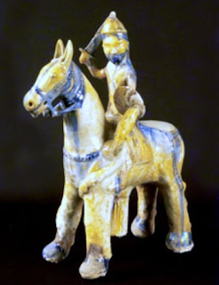 Horseman of Raqqa, a carved figure which is in National Museum of Damascus.