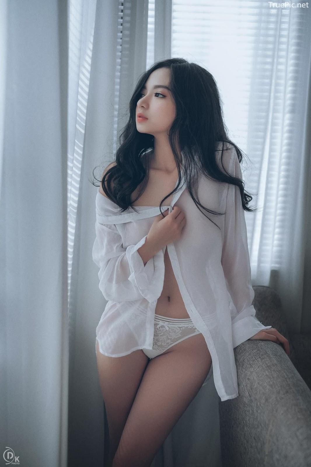 Vietnamese Sexy Model - Vu Ngoc Kim Chi - Beautiful in white - TruePic.net- Picture 18