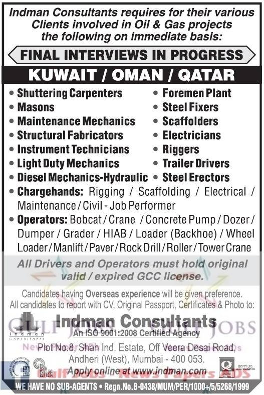 Oil & Gas Project Oman, Kuwait & Qatar job vacancies - Gulf Jobs for