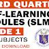 GRADE 1 3rd Quarter MODULES (SLM - ADM)
