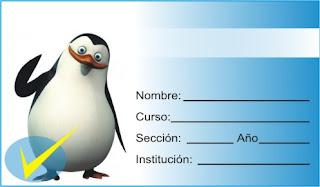 http://etiquetasparacuadernos.blogspot.pe/2016/03/pinguinos-de-madagascar.html