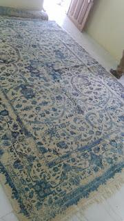 vintage worn out rug