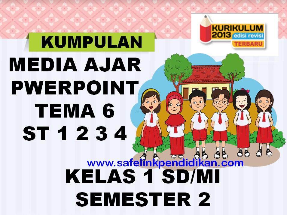 Media Ajar Powerpoint Tema 6 Subtema 1 2 3 4 Kelas 1