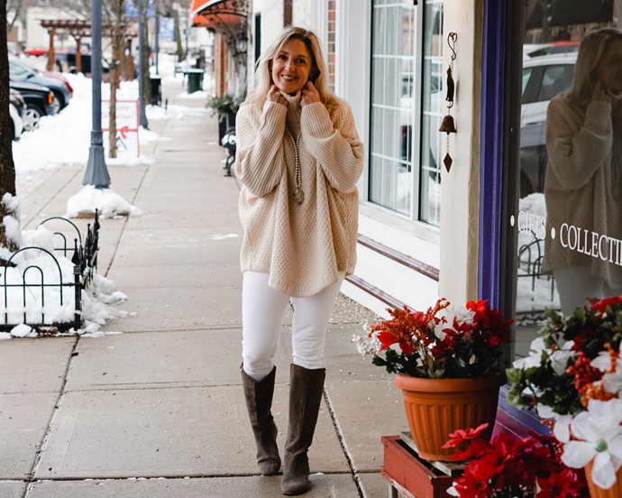what shoes to wear with white jeans in winter