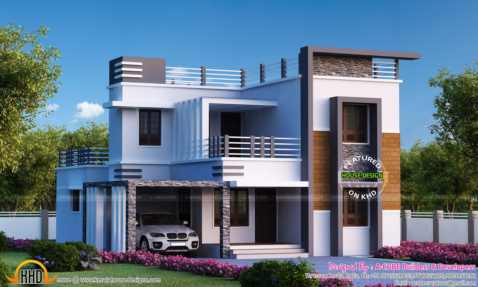 4 bedroom flat roof modern home 2655 sq ft