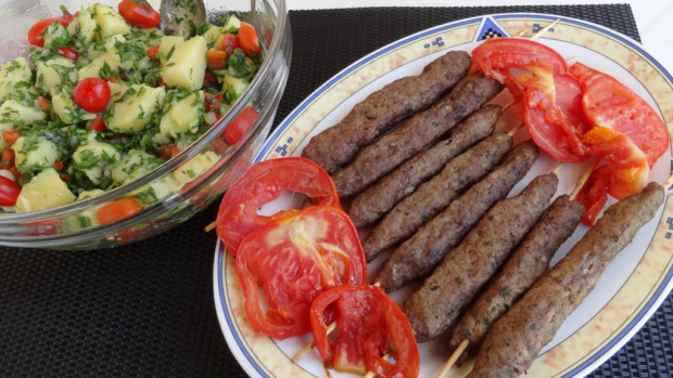Grilled Kafta and Potato Salad