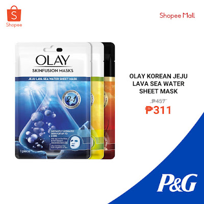 Olay Korean Jeju Lava Sea Water Sheet Mask
