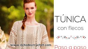 Túnica crochet con flecos ⭐ Paso a paso