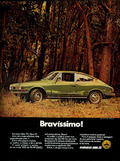 propaganda Karmann Ghia TC - 1970; reclame anos 70; década de 70;