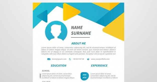 12 desain template resume  cv  unik dan kreatif gratis