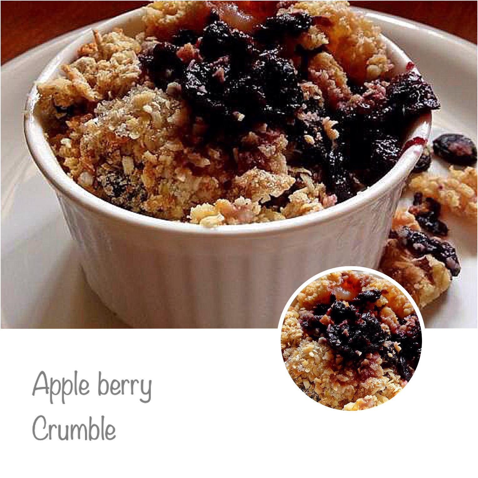 Your Everyday Cook: APPLE BERRY CRUMBLE