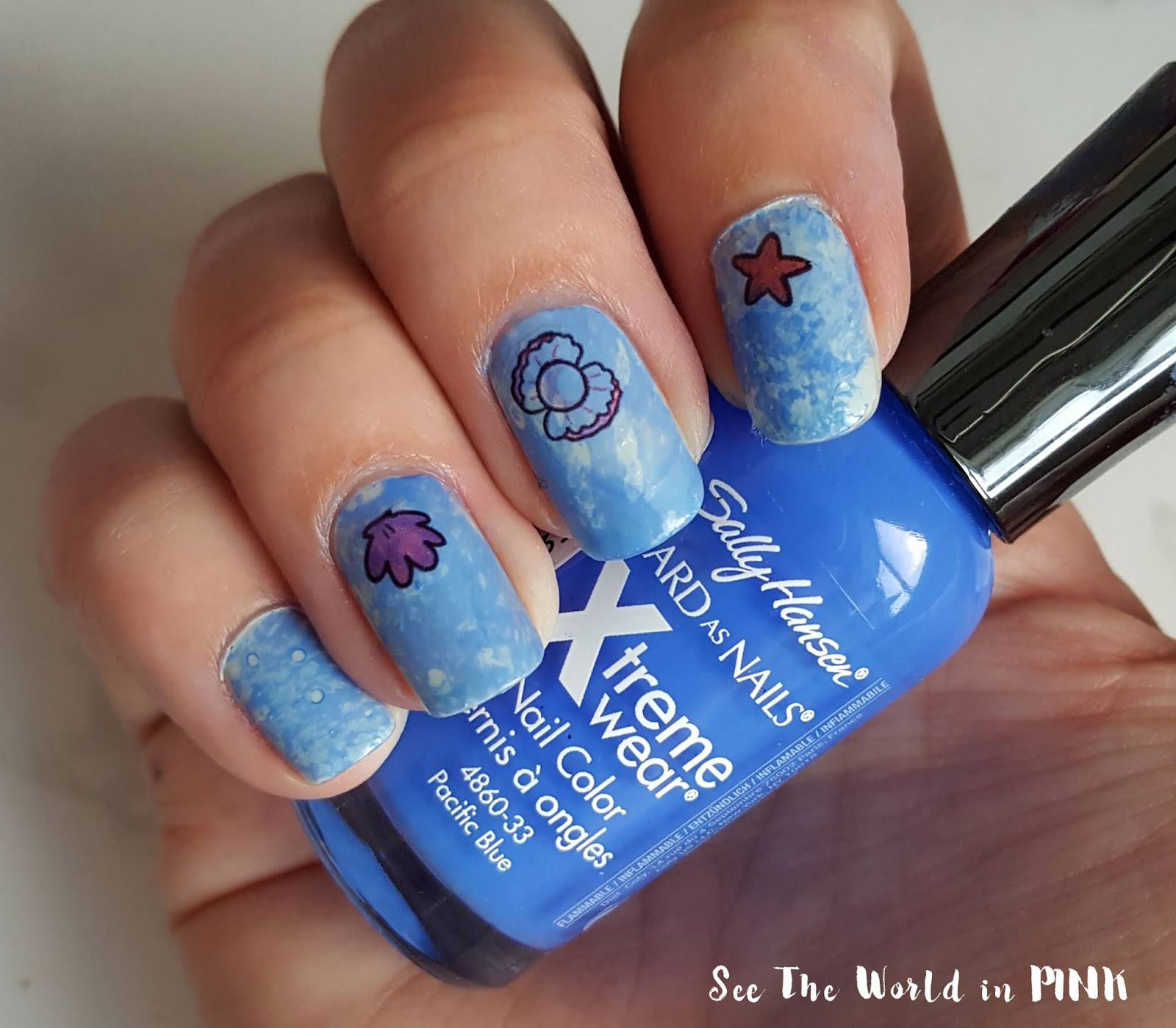 Manicure Monday - Water Spotted Nails (Water Marble Technique With Alcohol)