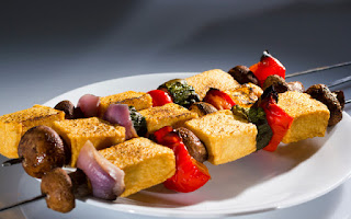 Tofu a la parrilla con verduras