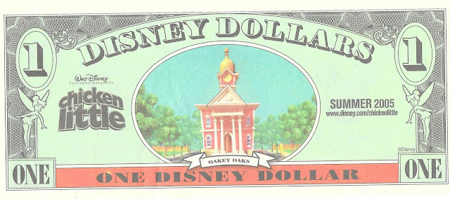 Chicken Little Summer 2005 Disney Dollar Walt Disney World