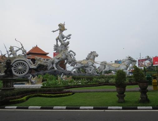 Satria Gatotkaca Statue Bali, Gatotkaca Statue In Bali, Satria Gatotkaca Park, Taman Satria Gatotkaca Bali, Patung Satria Gatotkaca