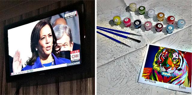 Kamala Harris and a Paint by numbers kit