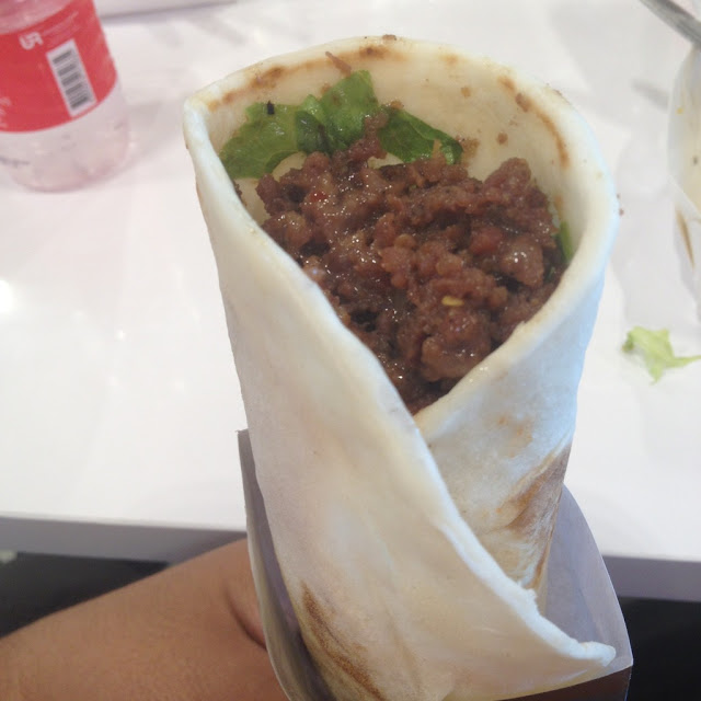 Beef tortilla roll at Persian Avenue