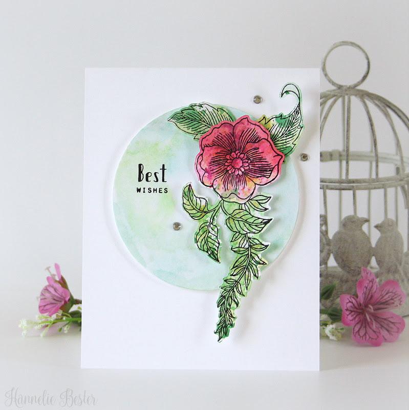 Altenew Engraved flowers stamp set