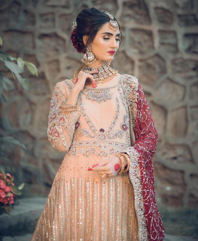 Cute Bride DP with Beautiful Long Dress