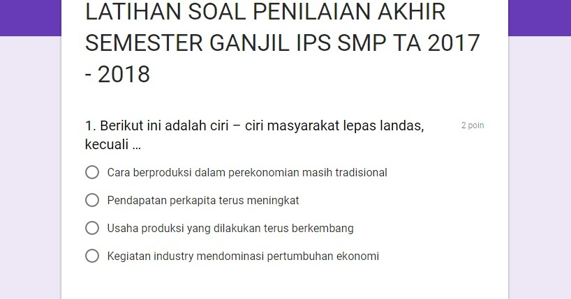 Jagoan Banten Latihan Soal Penilaian Akhir Semester