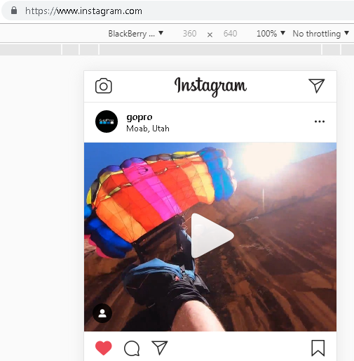 Check Instagram direct messages on desktop Chrome