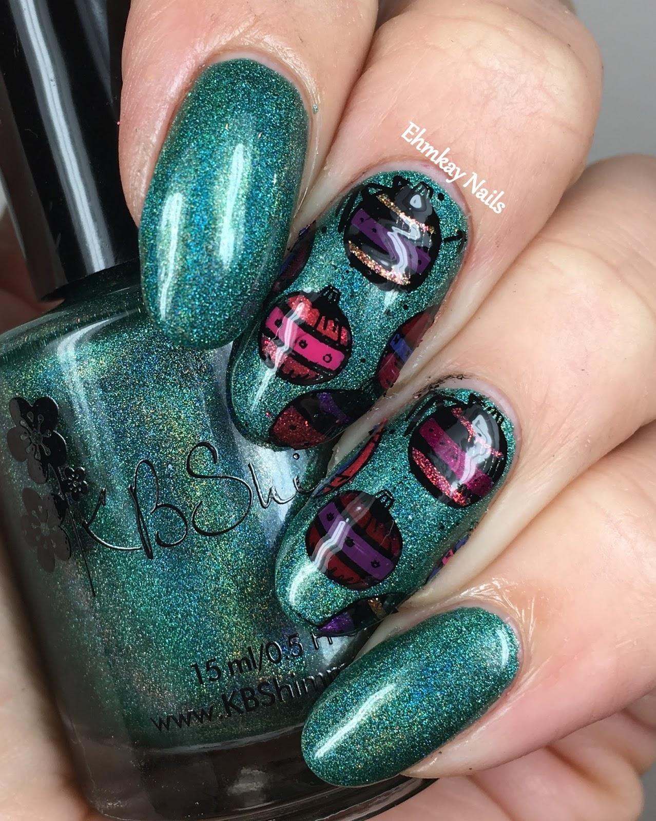 Ehmkay Nails: Winter Nail Art Challenge: Decorations