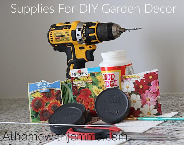 DIY Garden Decor Supply List