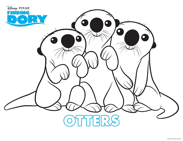 Dory finding dory, nemo, bailey, hank, color hank, color dory, color nemo, free dory printables, free finding dory coloring pages