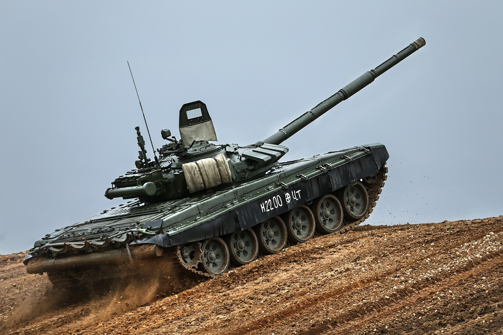 Run in: Americans tested the Russian tank