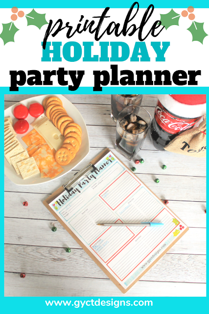 Download this free holiday party printable for organizing a last minute holiday party. #ad #GiftACoke