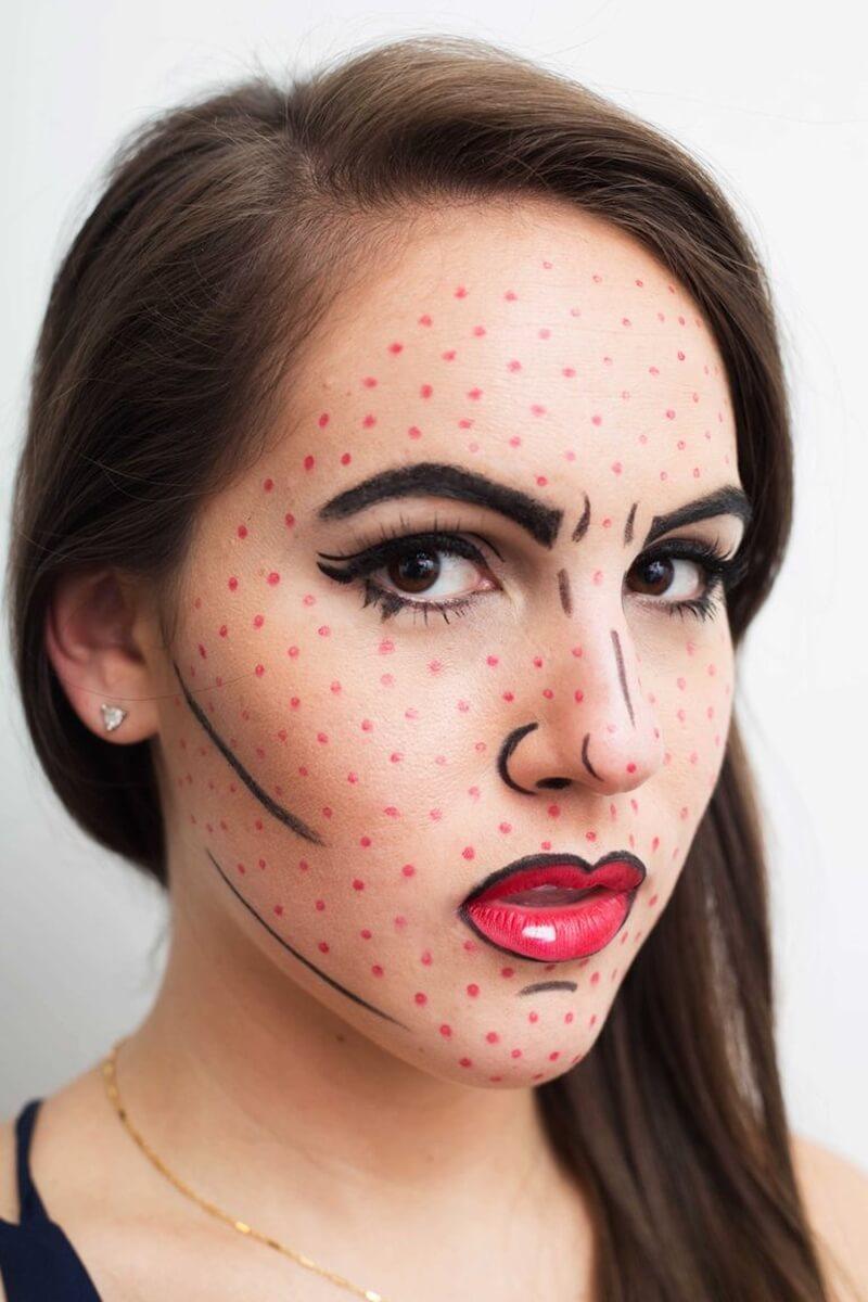 Maquiagem Pop-Art Halloween
