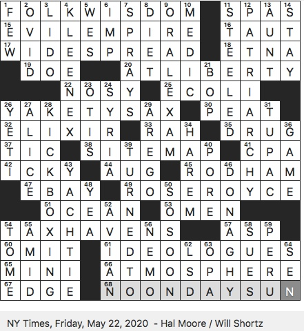 Rex Parker Does The Nyt Crossword Puzzle Classic Source Of Damask Fri 5 22 20 Marina Frequenter Informally Instrumental That Might Accompany Blooper Reel Noted Surname Among 1973 Yale Law
