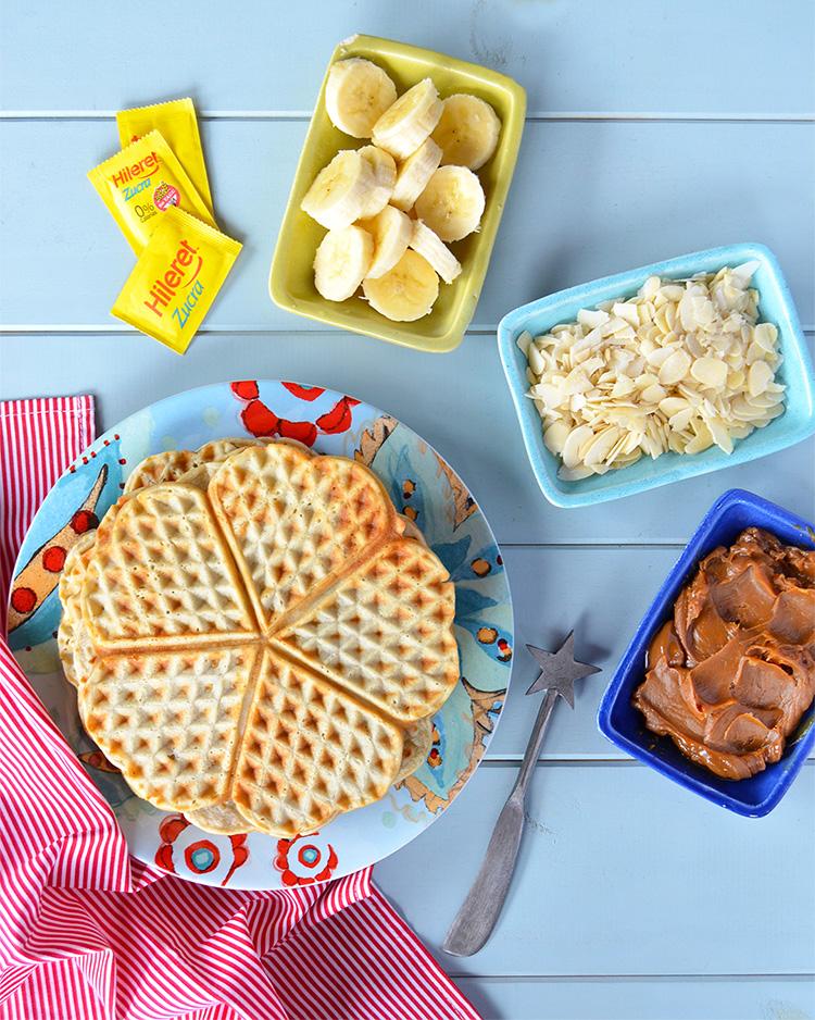 Waffles de banana sin azúcar