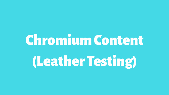 CHROMIC OXIDE (Leather Testing)