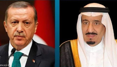 الملك سلمان بن عبدالعزير يتفق مع اردوغان