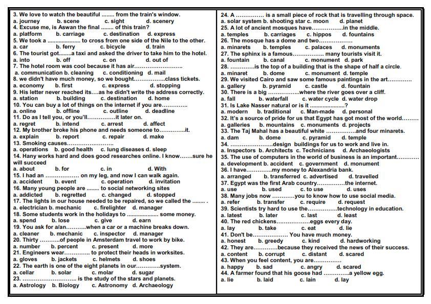 اقوى مراجعة ليلة الامتحان لغة انجليزية ثالثة اعدادى ترم ثاني 2021 مستر محمد فوزي 11